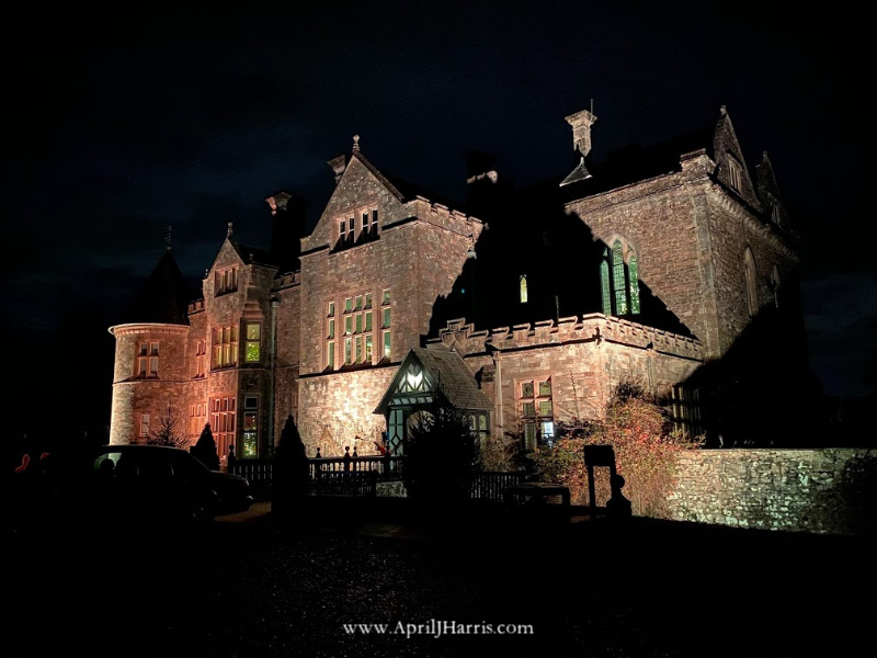 Beaulieu Palace House in the dark