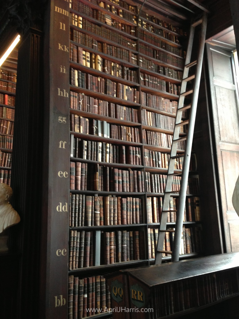 Library Shelves at Trinity College, Dublin