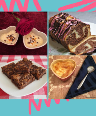 A selection of Valentines Day Desserts
