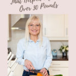 5 Healthy Eating Tips with April J Harris slicing veggies in the kitchen