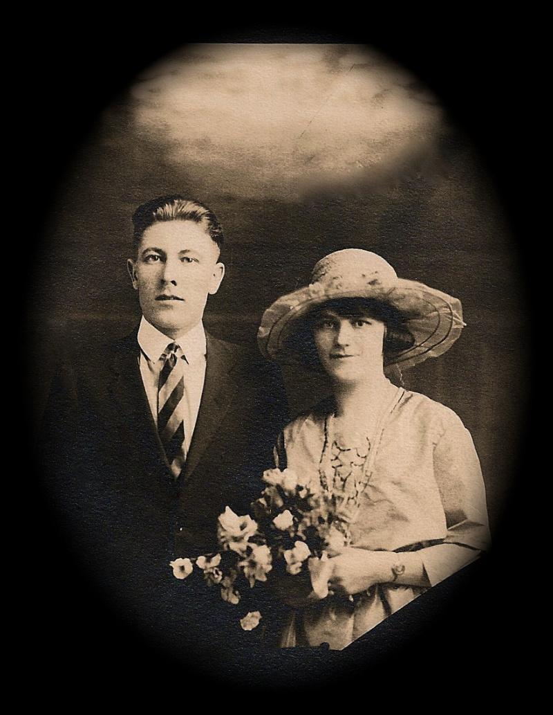 Joseph and Mary Killingback on their wedding day 1922