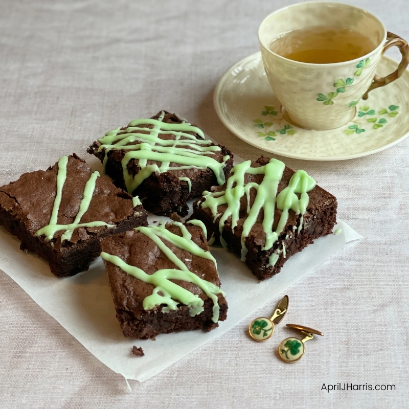 My Chocolate Mint Brownies are an irresistible treat, moist, delicious and perfect for any occasion - especially St Patrick's Day!