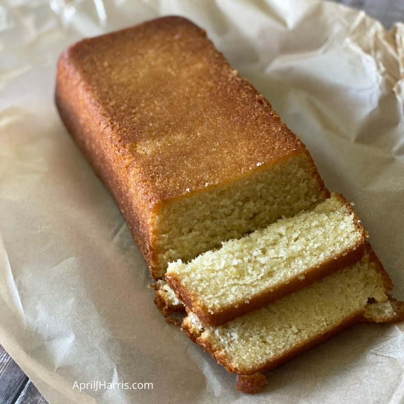 Lemon Drizzle Cake sliced and ready to serve