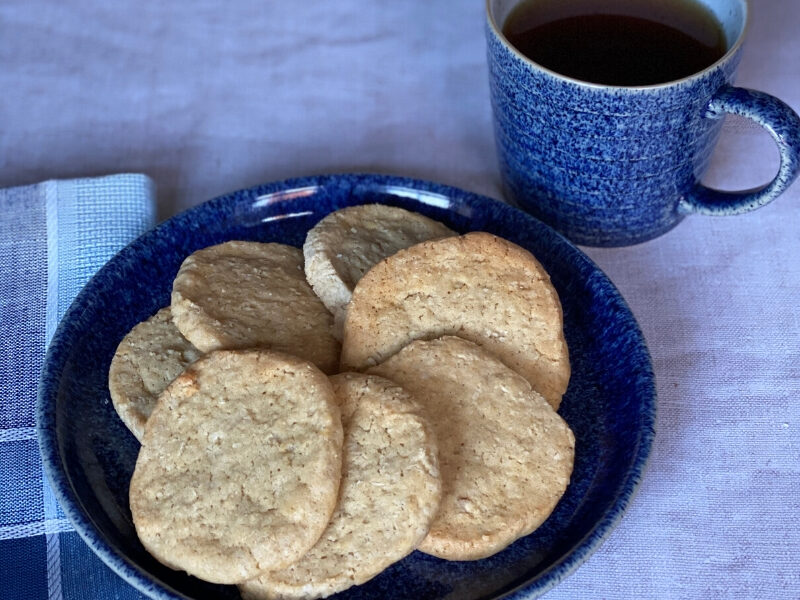Old Fashioned Oatmeal Coconut Cookies served on a plate