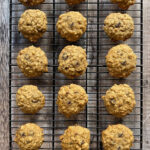 Old Fashioned Banana Oatmeal Cookies on rack