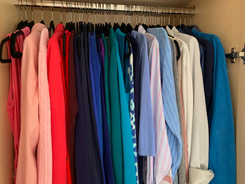 Refresh Your Wardrobe - a colour coordinated wardrobe