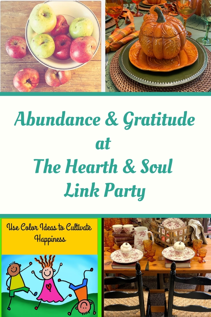 Featured abundance and growth blog posts at The Hearth and Soul Link Party