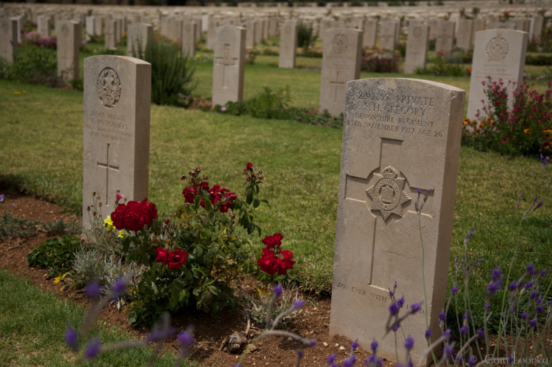 Graves at The British War Cemetery Jerusalem