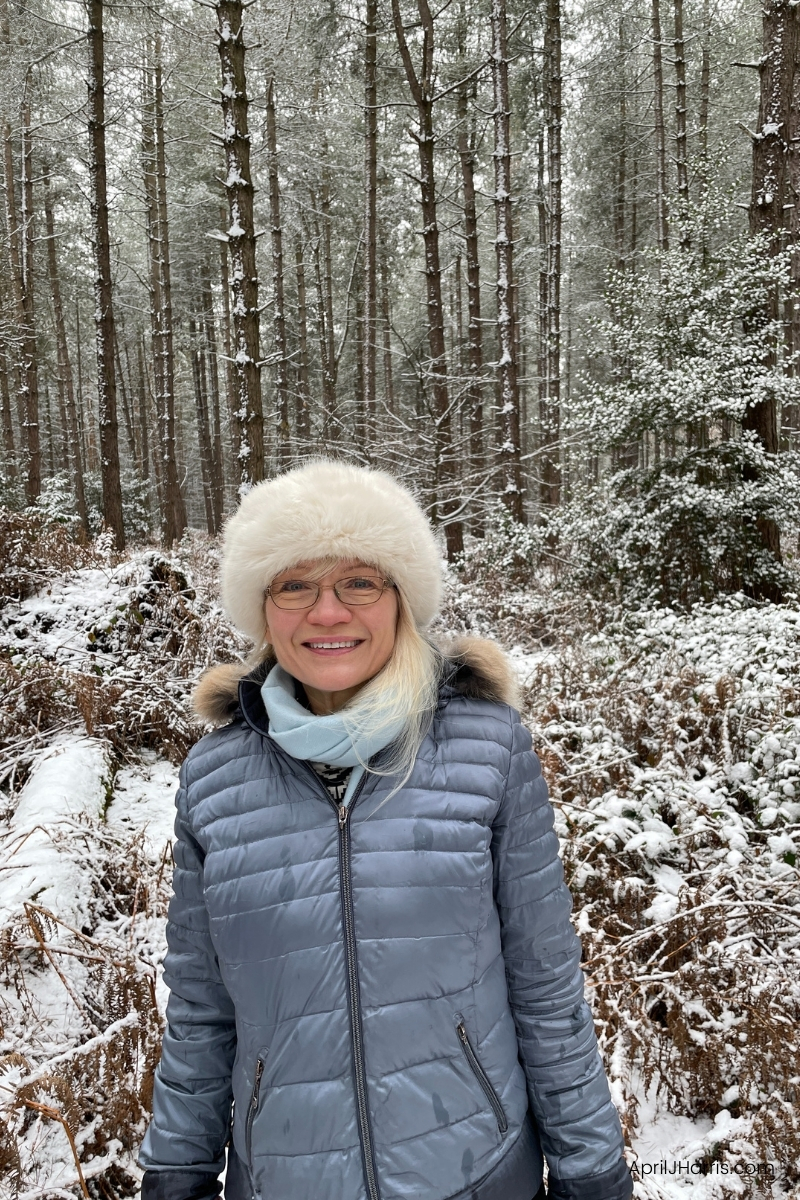 Learn and Grow - April in a snowy forest