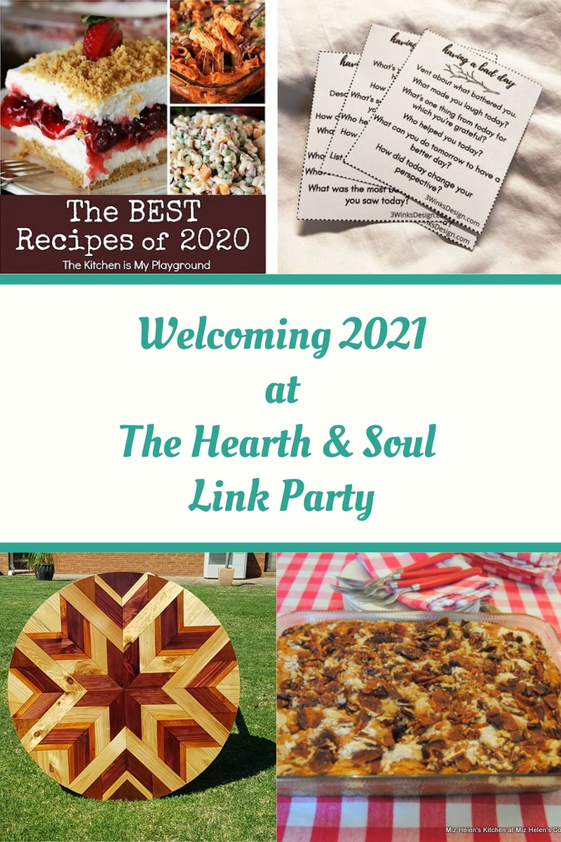 Welcoming 2021 at The Hearth and Soul Link Party featured posts