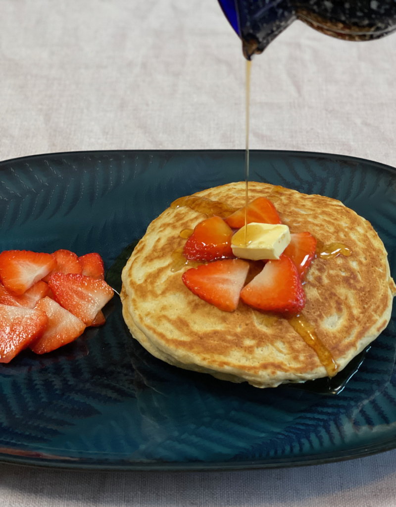 Flavoured Pancakes on a plate