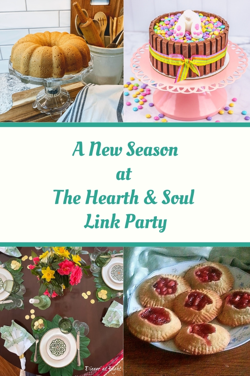 It's a new season at the Hearth and Soul Link Party! Don't miss lots of ideas and inspiration to help you make the most of spring!