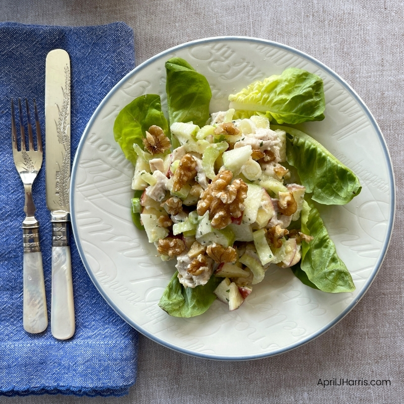 Waldorf Salad served for lunch