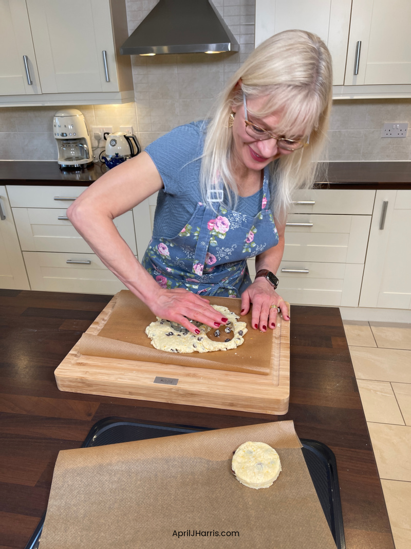 Cooking for Comfort - April pressing out scones