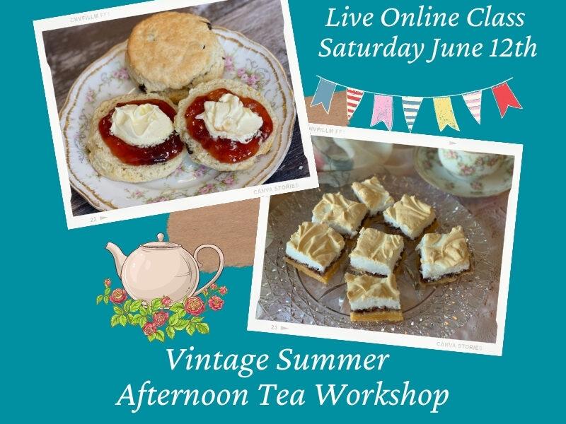 Vintage Summer Afternoon Tea Workshop Announcement