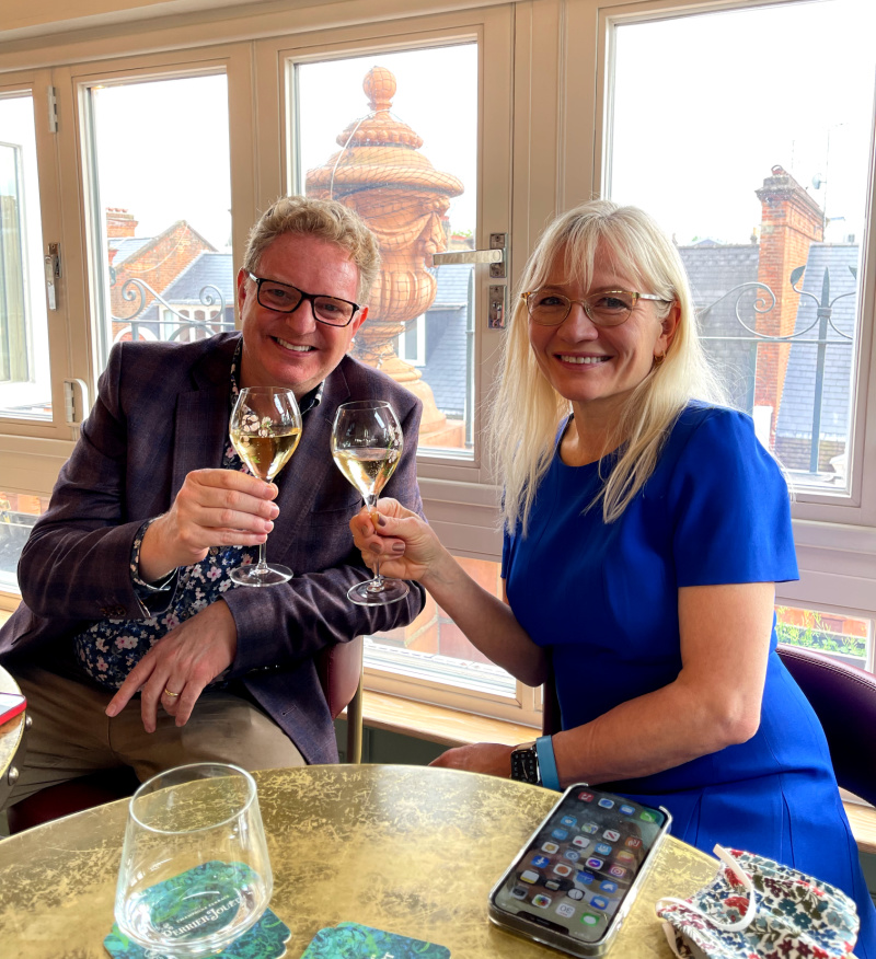 Summer Favourites - Enjoying a glass of champagne