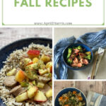 A selection of Easy Fall Recipes